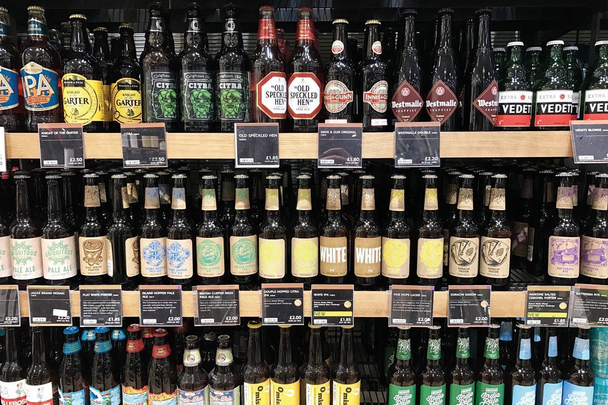 alcohol bottles on shelves