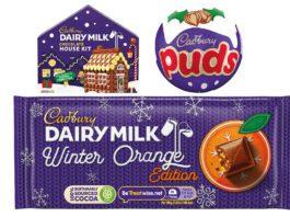 Assortment of Festive Cadbury Treats