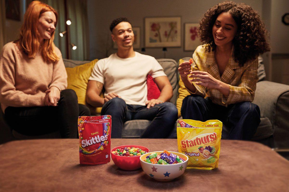 Mars Wrigley Skittles and Starburst sharing bags