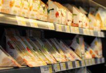 An Assortment of sandwiches on Tesco Shelf