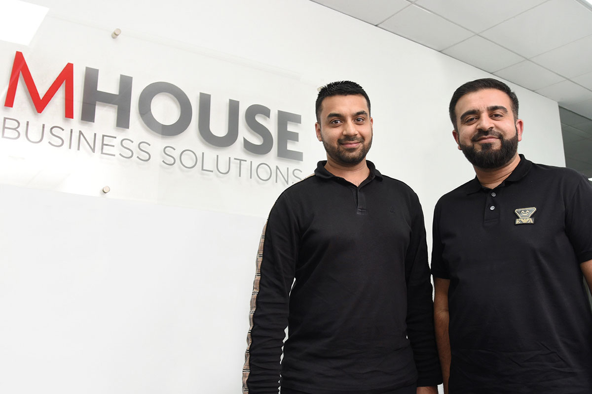 Faisal Sattar (left) and Asif Ashraf at the new MHouse office at Eurocentral.
